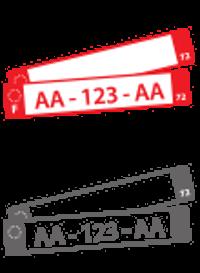 Icône plaque d'immatriculation