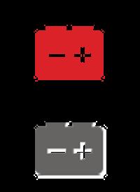 Icône batterie automobile