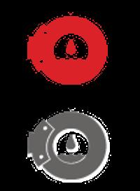 Icône liquide de frein