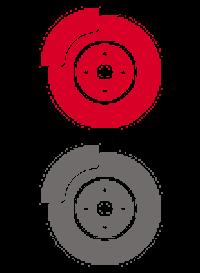 Icône plaquettes de frein