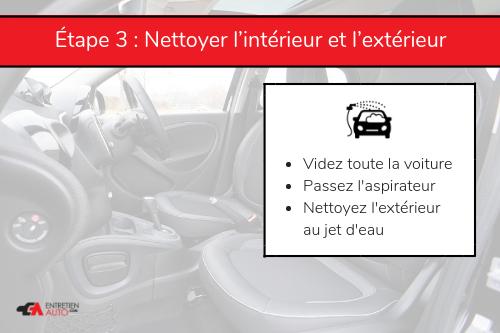 Étape 3 : nettoyer la voiture